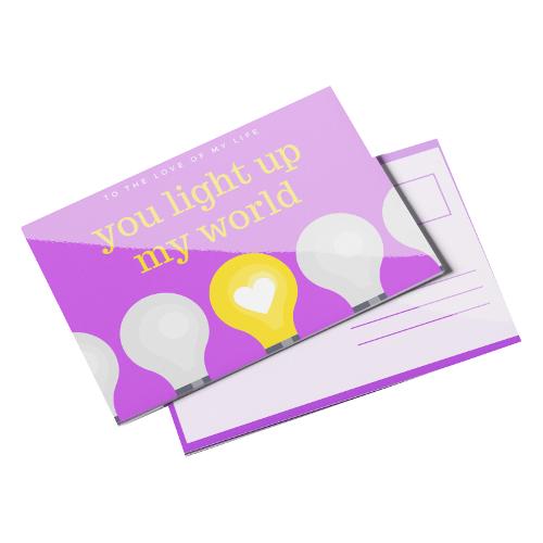 Postcards 14pt Writable + UV (C1S)
