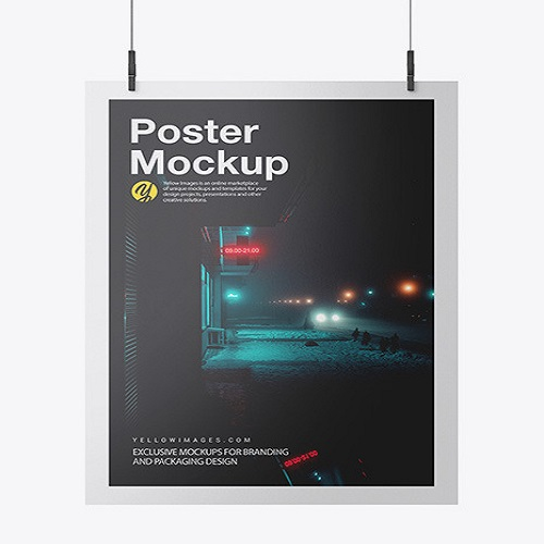 Posters 100lb Glossy Text Stock
