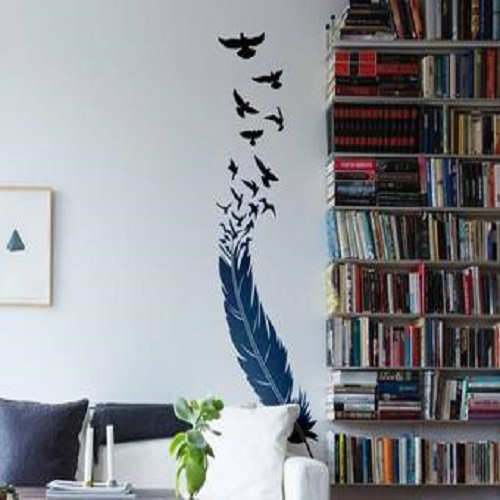 The Bird and the Feather - Wall decals