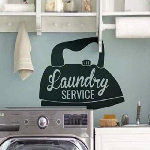 Laundry Room Service Wall Decal - Steam Iron