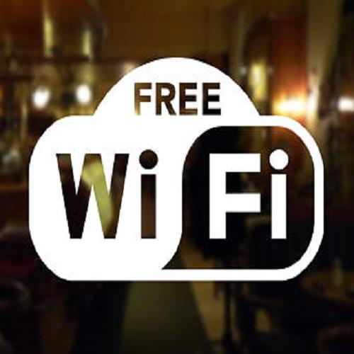 Free Wifi vinyl sign decal /sticker