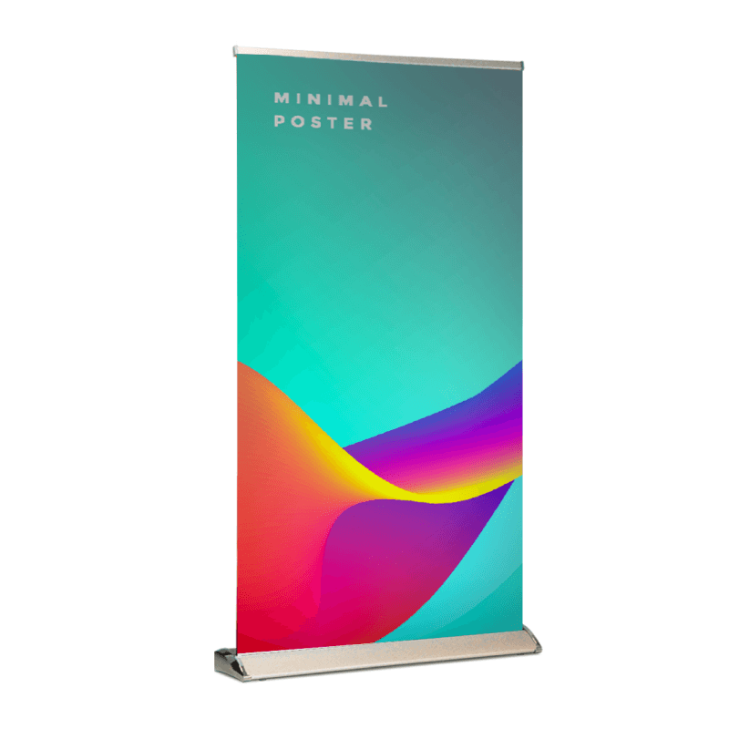 Premium Wide Pull Up Banner 13 oz Matte Vinyl