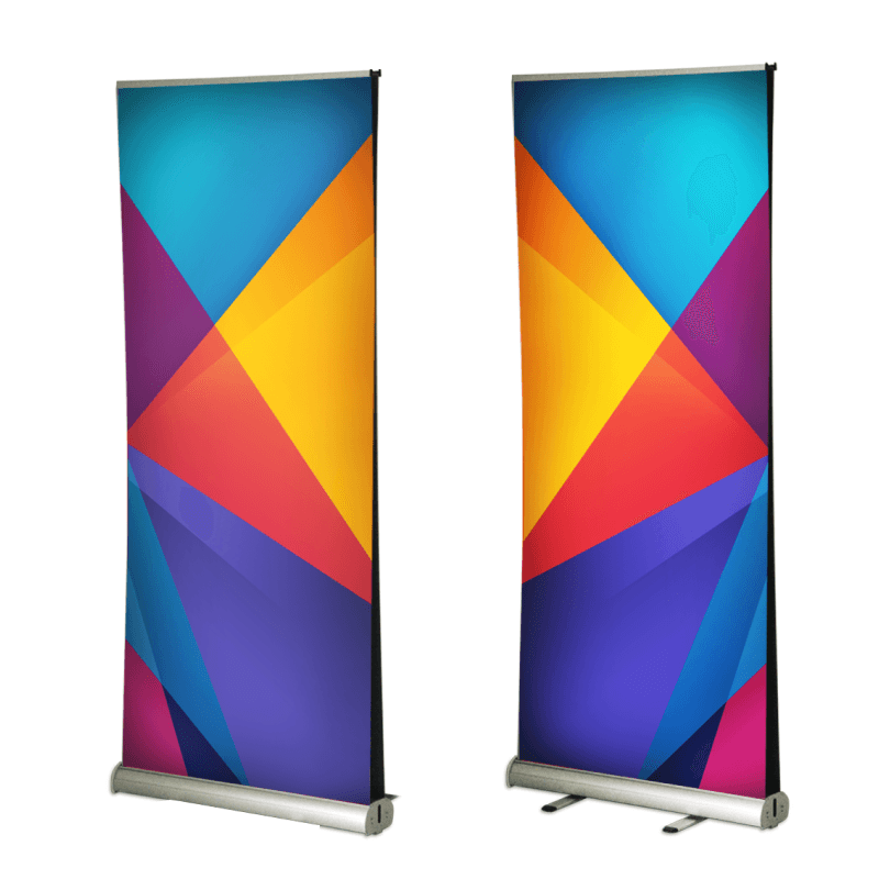 Double Sided Pull Up Banners 13 oz Matte Vinyl