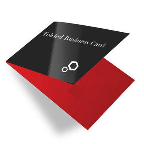 Folded Business Card 14pt + UV (High Gloss)